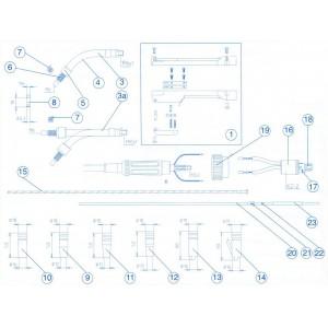 Doorvoer Capilair buisje 124mm