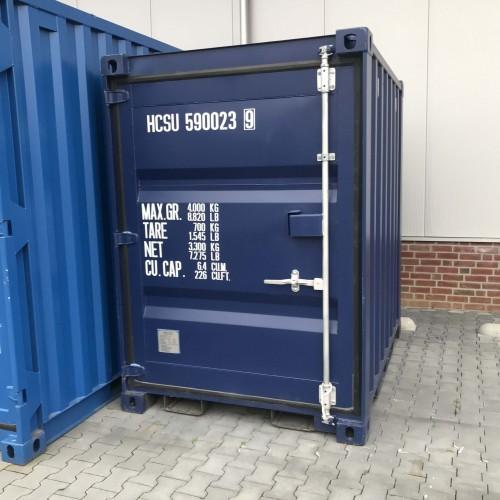 5 ft container nieuw blauw 1 deur