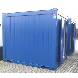 Container 10ft. geïsoleerd met deur zonder ramen blauw