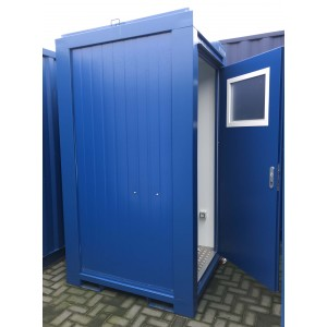 Toiletcontainer 1 toiletten 1 wasbak met 1 deur