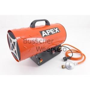 Gaskachel APEX 10 KW +Reduceer met slang